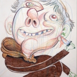 """""""Friar with Knife"""", Pencil on Paper, 2008"""
