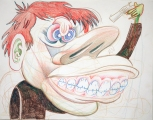 """Suicidal Friar"", Pencil on Paper, 2008"
