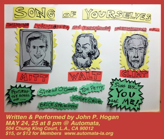 SONG OF YOURSELVES at Automata, May 24th & 25th