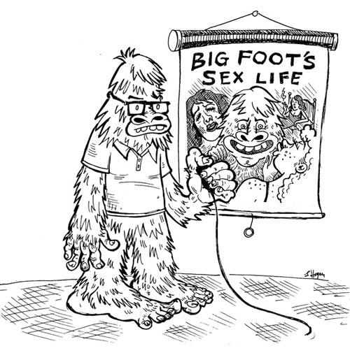 """""""Everything's Bigfoot in Texas"""" Vanity Fair, 2008"""